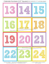 Calendar Numbers For Pocket Chart Printable Calendar Numbers For Pocket Chart Calendar Image