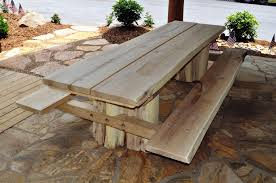 rustic wood patio furniture. Rustic Outdoor Patio Furniture Set. Locust Picnic Table IV Wood E