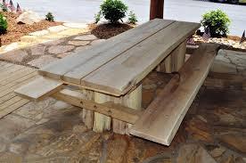 rustic outdoor patio furniture set locust picnic table iv