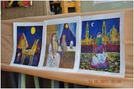 Художественная школа г Оленегорска Попова Мария Дипломная работа по композиции триптих Мир насекомых акварель