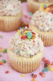 Vanilla Cupcakes With Fruity Pebbles Buttercream Frosting Wishes