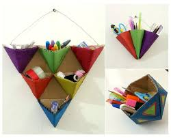 diy office supplies. diy triangle organizers diy office supplies