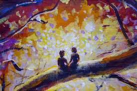 original oil painting on canvas colorful painting modern impressionism art stock ilration