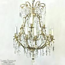 cleaning crystal chandelier antique brass and chandeli