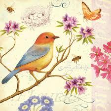 Vintage Floral Print Animals