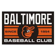 fanmats mlb baltimore orioles black 2 ft x 3 ft area rug 18461 the home depot