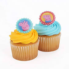 Bakery Crafts Peppa Pig 24 Cupcake Topper Rings 15 X 15