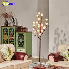 fumat vintage standing floor lamp american brief creative metal lamps for living room lotus glass lampshade