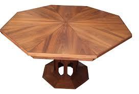 Inlaid Dining Table Foster Mcdavid Inlaid Walnut Octagonal Dining Table Chairish