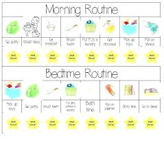 11 Explanatory Free Printable Morning Routine Charts With