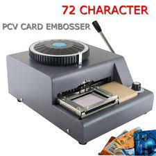 Credit Ebay Commercial Machine Sale Equipment amp; Manual Card Embossing For Stamping In