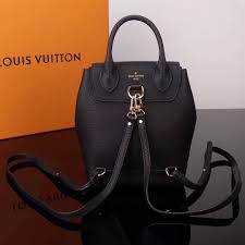 aaa copy lv louis vuitton m54573 lockme mini leather real backpack bags black