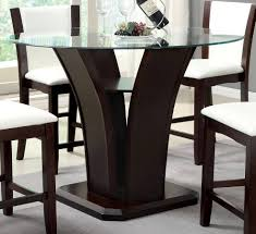 furniture of america manhattan iii dark walnut round counter height table the classy home