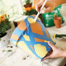 diy art project painting terra cotta flower pot