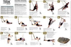 Printable Trx Exercise Chart Printable Trx Workouts Trx Ejercicios Tabla De Ejercicios