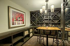 wine credenza cellar transitional with built in shelves
