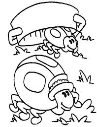 Small Picture Lady Bug Hiding from Predator Coloring Page Color Luna