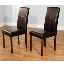 amazing leather parsons chairs dining room faux black red