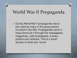World war 2 propaganda essay