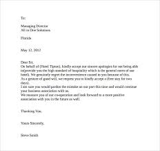 Customer Apology Letter Examples apology letter from hotel to guest Socbizco 96