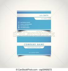 Simple Blue And White Business Card Template