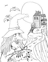 Small Picture Halloween Coloring Pages Online Scary Coloring Pages