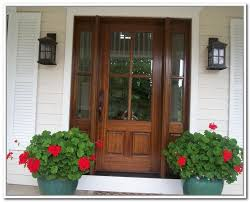 charming wooden front doors on with glass panels craftsman