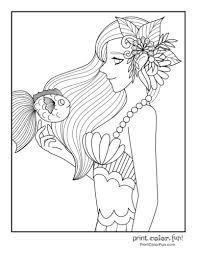 Our christmas coloring sheets are a brilliant free resource for teachers and parents to use in class or at home. 30 Mermaid Coloring Pages Free Fantasy Printables Print Color Fun