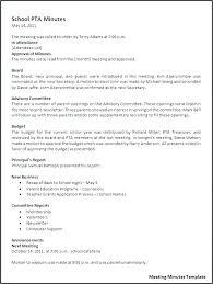 How To Write Meeting Minutes How To Write Meeting Minutes Template Free Secretary Minutes