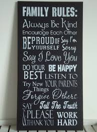 FAMILY RULES - Wall Hanging. NZ $28.00
