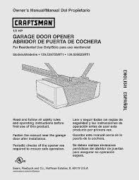 sears craftsman garage door opener manual 139 536 ideas