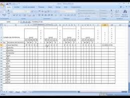 Formato De Asistencia Del Personal Formato De Asistencia En Excel Youtube