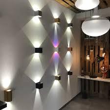 Sluce Pro Led Wandleuchte Ixa Zwei Verstellbare Winkel Beton
