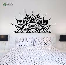 yoyoyu wall decal art vinyl bedroom decoration headboard wall decals removeable half mandala sticker bohemian yo099