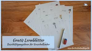 Ein komplettes lehrwerk zum unentgeltlichen download. Gratis Lernblatter Beschaftigungsideen Fur Vorschulkinder