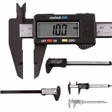 Professional Instruments Electronic Digital Caliper 6 Inch Full Stainless Steel Metal Vernier Cal