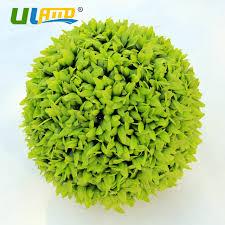 Decorative Boxwood Balls ULAND Artificial Boxwood Balls Plastic Plants Kissing Balls Faux 48