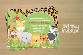 Free Printable Safari Birthday Invitations 16 Animal Birthday Invitation Templates Free Vector Eps Jpeg Al