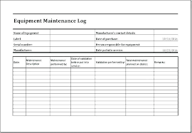 Vehicle Repair Log Template
