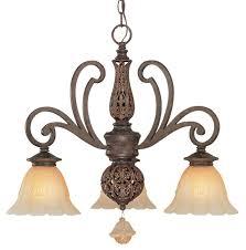 riviera 3 light mini chandelier in tortoise shell finish