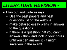 how to revise english gcse  8 literature revision essays