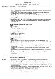 Administrator Resume Examples Team Administrator Resume Samples Velvet Jobs