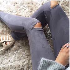2016 summer women faux leather skinny pants y zipped legging stretch slim trousers jeans ping hungama