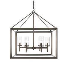 golden lighting chandelier. Golden Lighting 2073-6-GMT Smyth 6 Light Chandelier In Gunmetal Bronze N