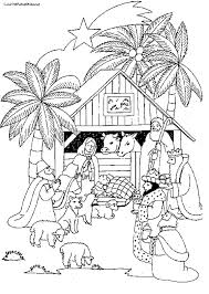 Small Picture Printable Coloring Pages Nativity Scene Coloring Pages