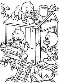 Donald Duck Kleurplaten Kwik Kwek En Kwak Kleurplaat Kwik Kwek En Kwak
