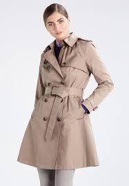 lauren ralph rain trech trenchcoat sand women clothing coats trench beige