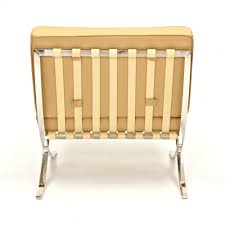 Barcelona Chair Style Mies Van Der Rohe Style Cream Barcelona Chair Mies Van Der Rohe