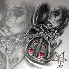 Horror дом эскиз в стиле реализм для тату на плече или татуировки