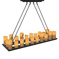 pillar candle rectangular chandeliers 3d model natural looking faux candles in diffe shapes a